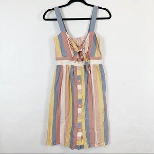 Madewell Tie-Front Cutout Dress in Sherbert